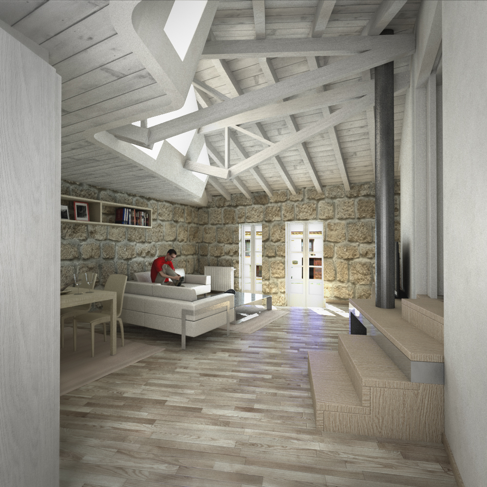 Reforma vivienda madera moderna combarro poio pontevedra - Arquitectos en pontevedra ...