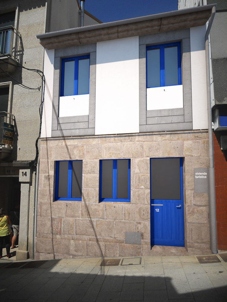 Fachada 3 hormigon vivienda turistica casco vello marin arquitecto arquitectos vigo rodrigo - Arquitectos vigo ...