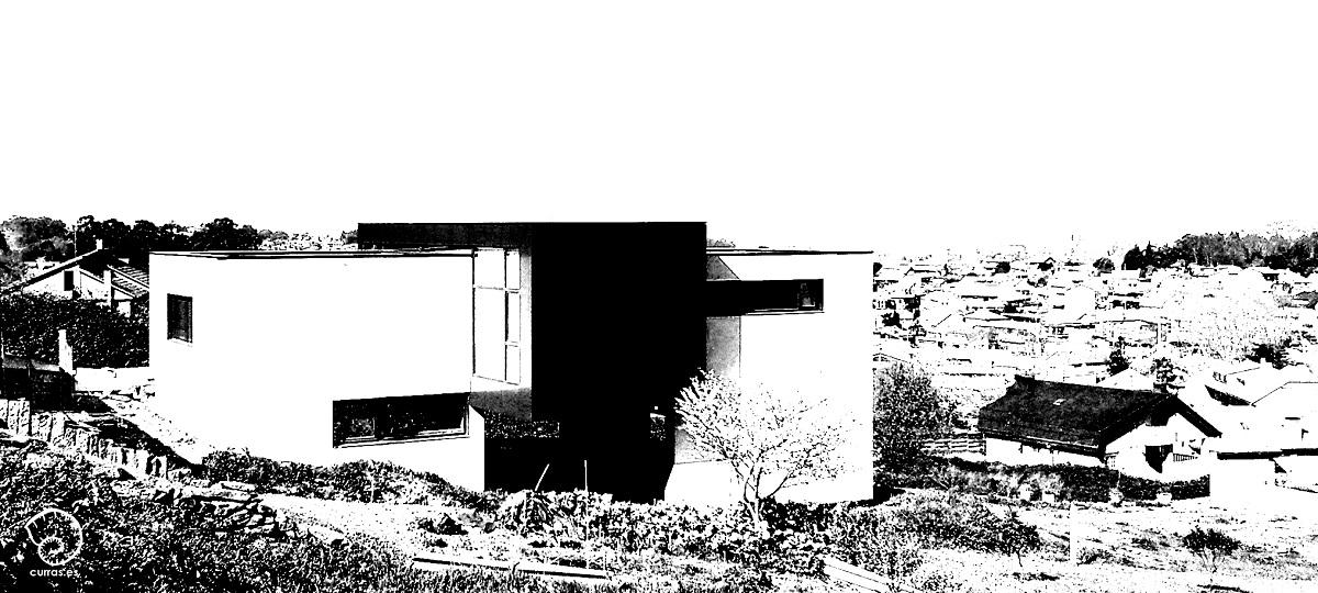 Navidad casa blanca contemporanea modulos vigo arquitectos arquitecto rodrigo curr s torres - Arquitectos vigo ...